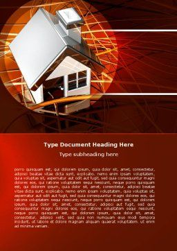 House Planning Word Template, Cover Page, 04917, Construction — PoweredTemplate.com