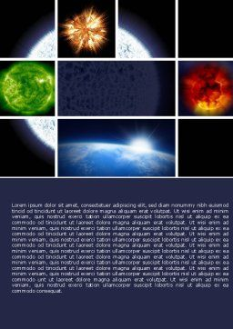 Planet Glow Word Template, Cover Page, 04921, Technology, Science & Computers — PoweredTemplate.com