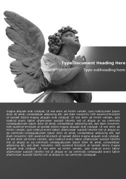 Angel Word Template, Cover Page, 04927, Religious/Spiritual — PoweredTemplate.com