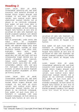 Turkey Word Template First Inner Page