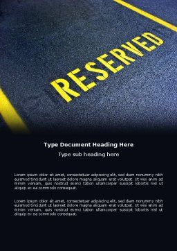 Reserved Word Template, Cover Page, 04929, Business Concepts — PoweredTemplate.com