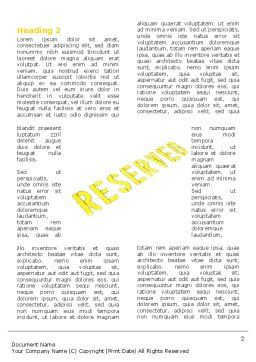 Reserved Word Template, First Inner Page, 04929, Business Concepts — PoweredTemplate.com