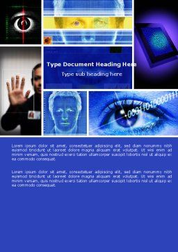 Biometrics Word Template, Cover Page, 04932, Technology, Science & Computers — PoweredTemplate.com