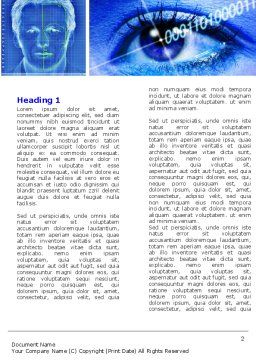 Biometrics Word Template, First Inner Page, 04932, Technology, Science & Computers — PoweredTemplate.com
