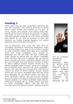 Biometrics Word Template, Second Inner Page, 04932, Technology, Science & Computers — PoweredTemplate.com
