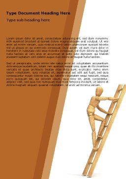 Climbing Up On the Ladder Word Template, Cover Page, 04935, Careers/Industry — PoweredTemplate.com