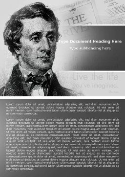 Henry David Thoreau Word Template Cover Page