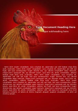 Rooster Word Template Cover Page