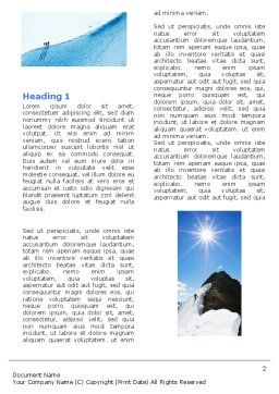 Mountain Climber Word Template, First Inner Page, 04944, Sports — PoweredTemplate.com