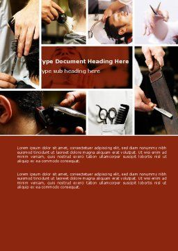 Barber Word Template, Cover Page, 04945, Careers/Industry — PoweredTemplate.com