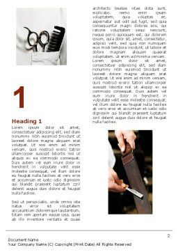 Barber Word Template, First Inner Page, 04945, Careers/Industry — PoweredTemplate.com