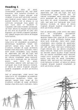 Power Lines Word Template, First Inner Page, 04947, Technology, Science & Computers — PoweredTemplate.com