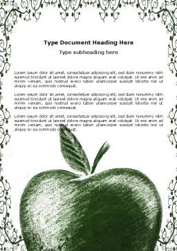 Sketch Apple Word Template Cover Page