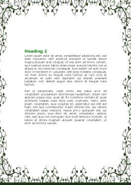Sketch Apple Word Template Second Inner Page