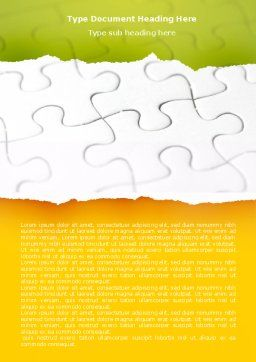 Puzzle Completed Word Template, Cover Page, 04949, Consulting — PoweredTemplate.com