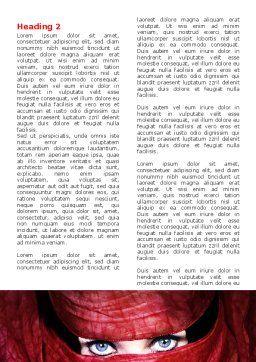 Mystic Beauty Word Template, First Inner Page, 04951, Art & Entertainment — PoweredTemplate.com