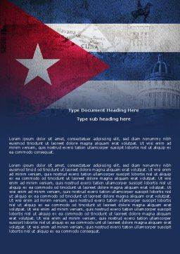 Cuba Word Template, Cover Page, 04953, Flags/International — PoweredTemplate.com