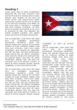 Cuba Word Template, First Inner Page, 04953, Flags/International — PoweredTemplate.com