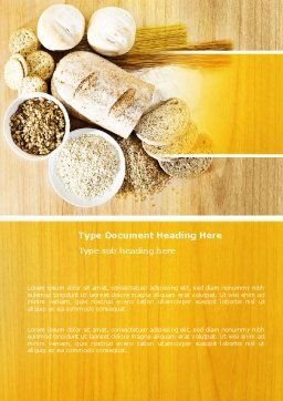 Staple Food Word Template, Cover Page, 04956, Food & Beverage — PoweredTemplate.com