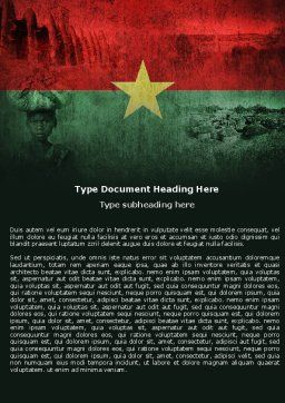 Burkina Faso Word Template, Cover Page, 04958, Flags/International — PoweredTemplate.com