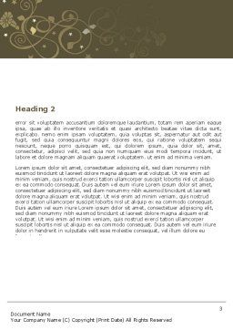 Sustainable Design Word Template Second Inner Page