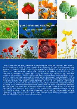 Poppy Word Template, Cover Page, 04965, Nature & Environment — PoweredTemplate.com