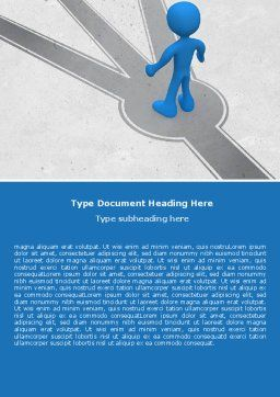 Choosing Way Word Template, Cover Page, 04967, Consulting — PoweredTemplate.com