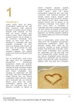 Heart On Sand Word Template, First Inner Page, 04969, Holiday/Special Occasion — PoweredTemplate.com