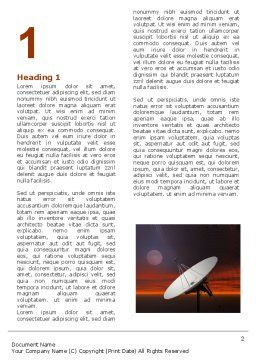 Parabolic Aerial Word Template, First Inner Page, 04972, Telecommunication — PoweredTemplate.com