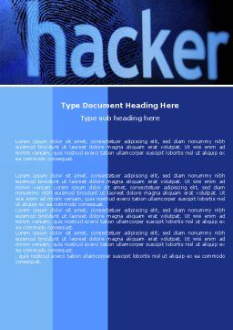 Hacker Word Template, Cover Page, 04973, Technology, Science & Computers — PoweredTemplate.com