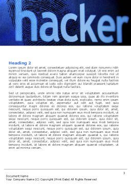 Hacker Word Template, Second Inner Page, 04973, Technology, Science & Computers — PoweredTemplate.com