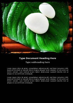 White Stones Word Template, Cover Page, 04975, Medical — PoweredTemplate.com