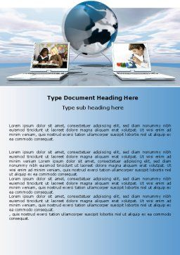 Education and Computer Word Template, Cover Page, 04976, Education & Training — PoweredTemplate.com
