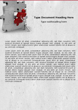 Inserting Missing Part Word Template, Cover Page, 04980, Consulting — PoweredTemplate.com