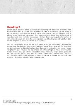 Inserting Missing Part Word Template, Second Inner Page, 04980, Consulting — PoweredTemplate.com