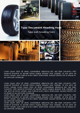 Tire Word Template, Cover Page, 04981, Careers/Industry — PoweredTemplate.com