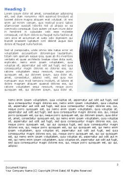 Tire Word Template, Second Inner Page, 04981, Careers/Industry — PoweredTemplate.com