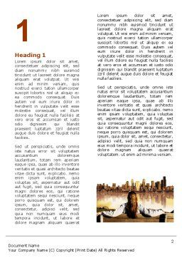 City View Word Template, First Inner Page, 04983, Construction — PoweredTemplate.com