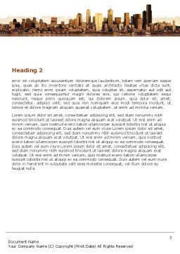 City View Word Template, Second Inner Page, 04983, Construction — PoweredTemplate.com
