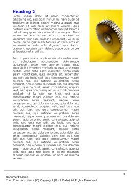 Gear Wheel Word Template, Second Inner Page, 04984, Utilities/Industrial — PoweredTemplate.com