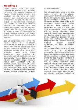 Business Indicators Rising Word Template, First Inner Page, 04985, Consulting — PoweredTemplate.com