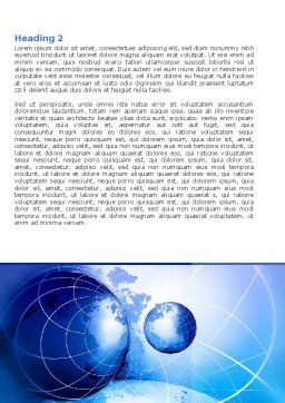 Two Worlds Word Template, Second Inner Page, 04987, Global — PoweredTemplate.com