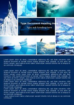 Iceberg Word Template, Cover Page, 04989, Nature & Environment — PoweredTemplate.com