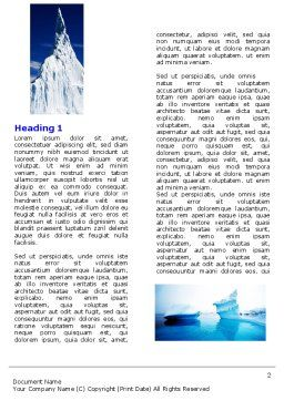 Iceberg Word Template, First Inner Page, 04989, Nature & Environment — PoweredTemplate.com
