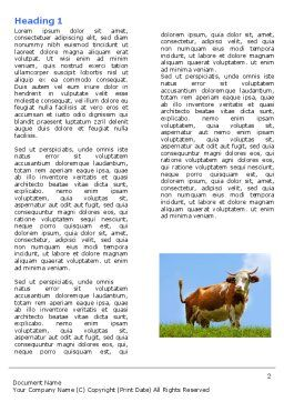 Cow Word Template, First Inner Page, 04991, Agriculture and Animals — PoweredTemplate.com
