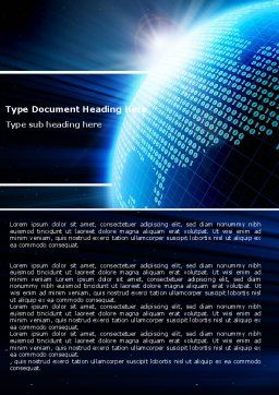 World In Digits Word Template, Cover Page, 04997, Telecommunication — PoweredTemplate.com