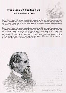 Charles Dickens Word Template, Cover Page, 04998, Education & Training — PoweredTemplate.com