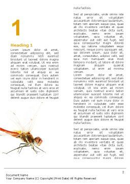Dragonfly Word Template, First Inner Page, 04999, Agriculture and Animals — PoweredTemplate.com