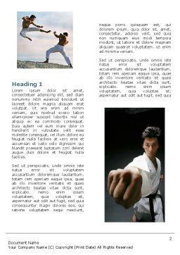 Karate Word Template, First Inner Page, 05001, Sports — PoweredTemplate.com