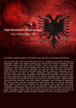 Albania Word Template, Cover Page, 05002, Flags/International — PoweredTemplate.com